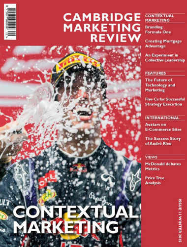 Cambridge Marketing Review cover, Winter 2015