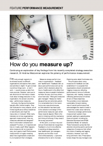 How do you measure up? article